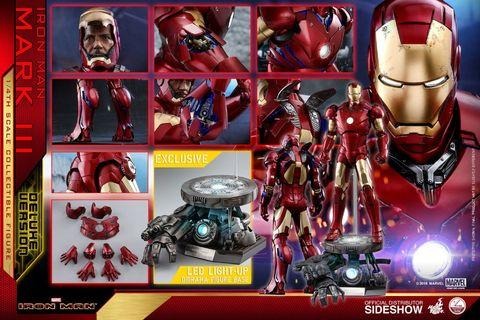 Hot Toys - QS012 - Iron Man - 1/4th scale Mark III (Deluxe Version) Collectible Figure (Ship Q2-Q3 2019)