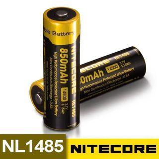 Nitecore NL1485 850mAh AA 3.7v 14500 Protected Rechargeable 18650 Li-ion Battery