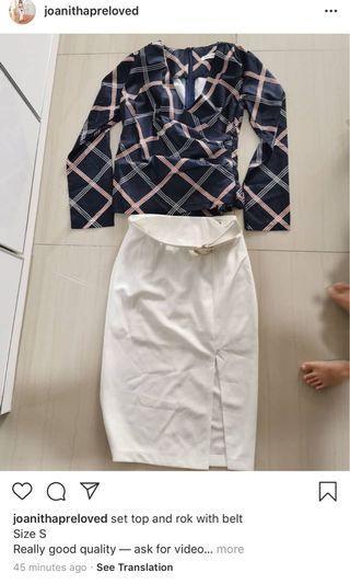 Set top and skirt
