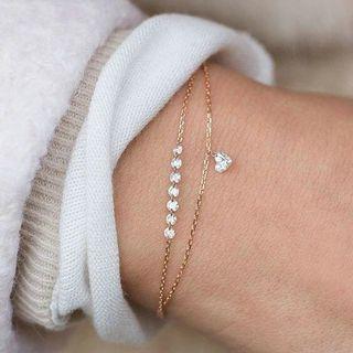 Gelang Korea Bracelet Touch of Morning Crystal Bangle