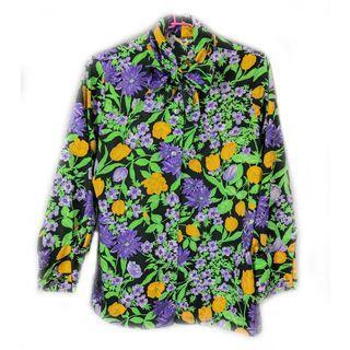 美國帶回♨️領口綁帶設計夏威夷衫♨️少見 絕美 氣質 稀有 二手 古著 復古