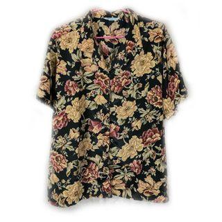 美國帶回♨️少見低彩度花色的夏威夷衫♨️美品 二手 古著 復古