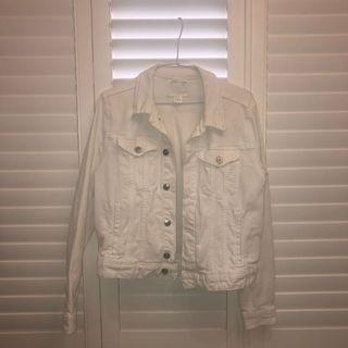 H&M 白色牛仔外套(保存良好)