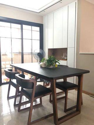 Dining Table Meja Makan + 6 chairs
