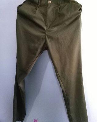 Army Pants Cotton Woman Celana Kain Katun Bottoms Trouser Bawahan Pakaian #LalamoveCarousell #HBDCarousell