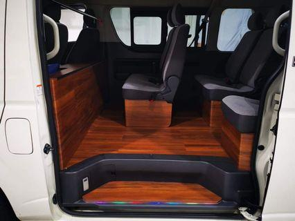 Vinyl Flooring👍👍👍Customised flooring done for this wonderful hiace! High durability and easy to maintain! Best for daily use!!  Have yours customised now!  #quality #hiace #style
