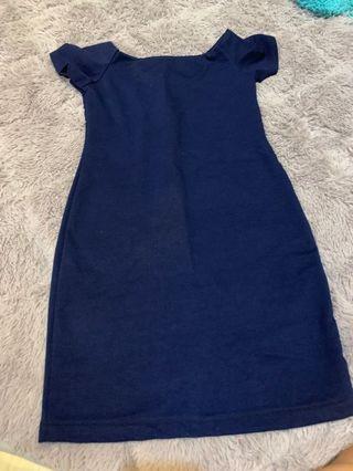 Dark blue offshoulder dress