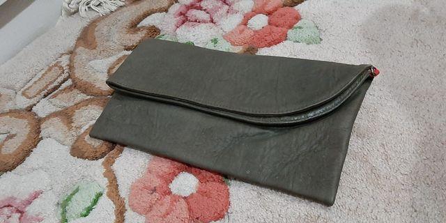 Folding Grey Clutch
