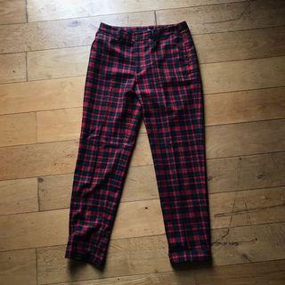 H&M Tartan/Checkered Red Pants