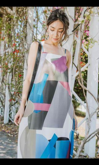 Perla Abstract Tent Dress