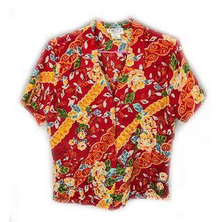 美國老品♨️紅色夏威夷衫♨️古著 復古 二手 夏天