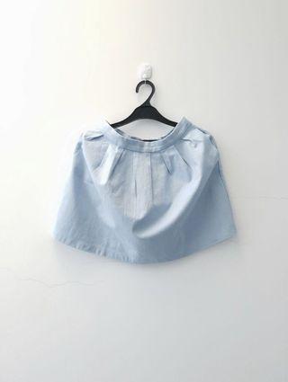 Stradivarius baby blue skirt