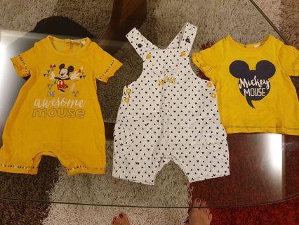 3 pieces Disney Baby Romper