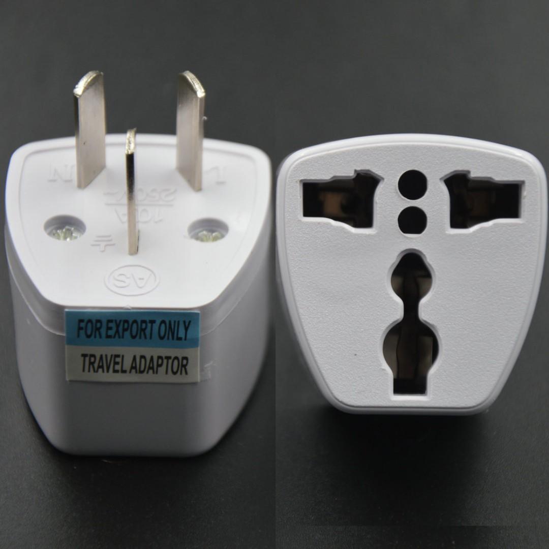 GREAT DEAL!! 3 Pin Universal Travel Adapter US/UK/EU to NZ/AU New Zealand Australia