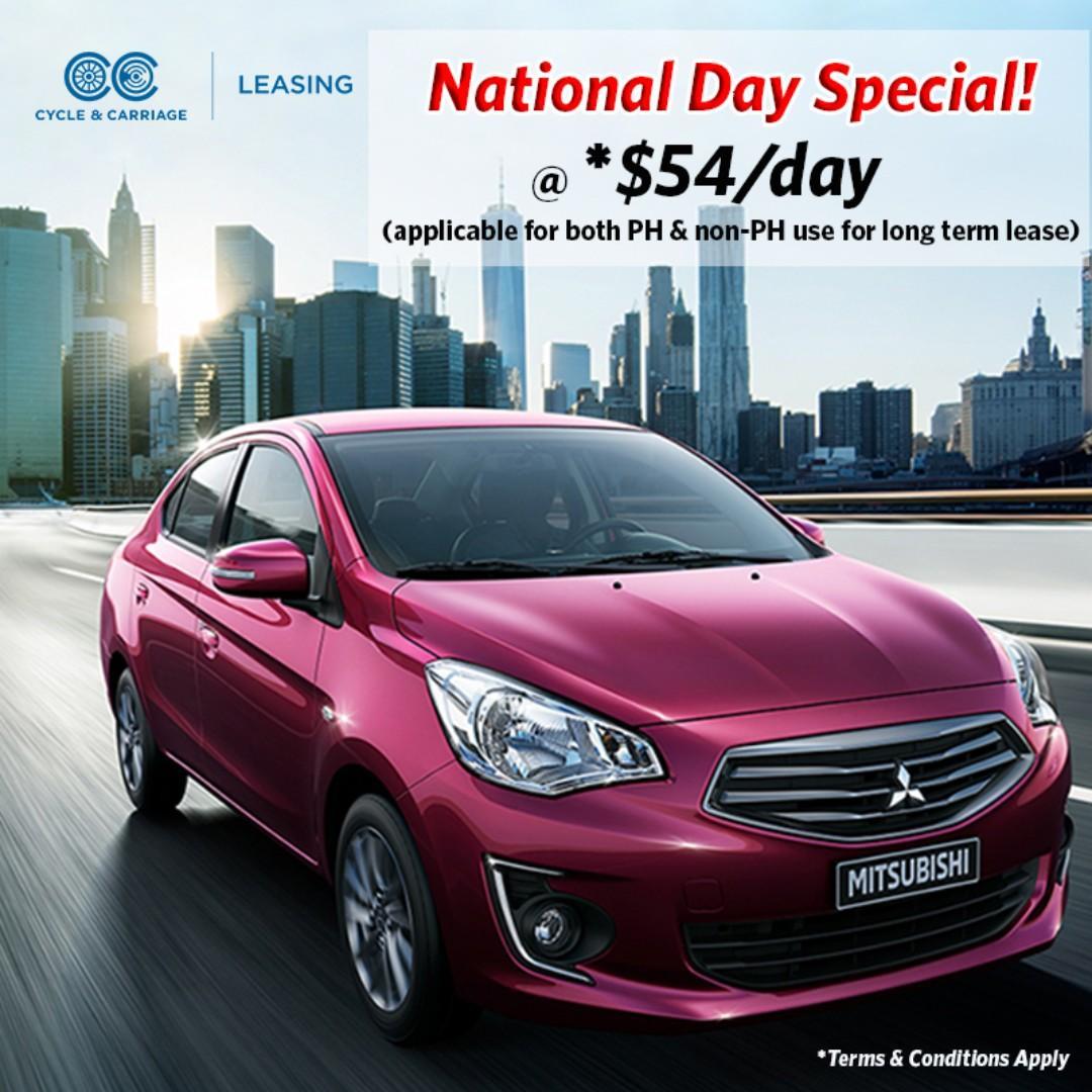 $54/day for Mitsubishi Attrage!