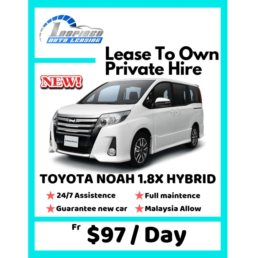 Lease To Own Car >> Brand New Toyota Noah 1 8x Hybrid Lease To Own On