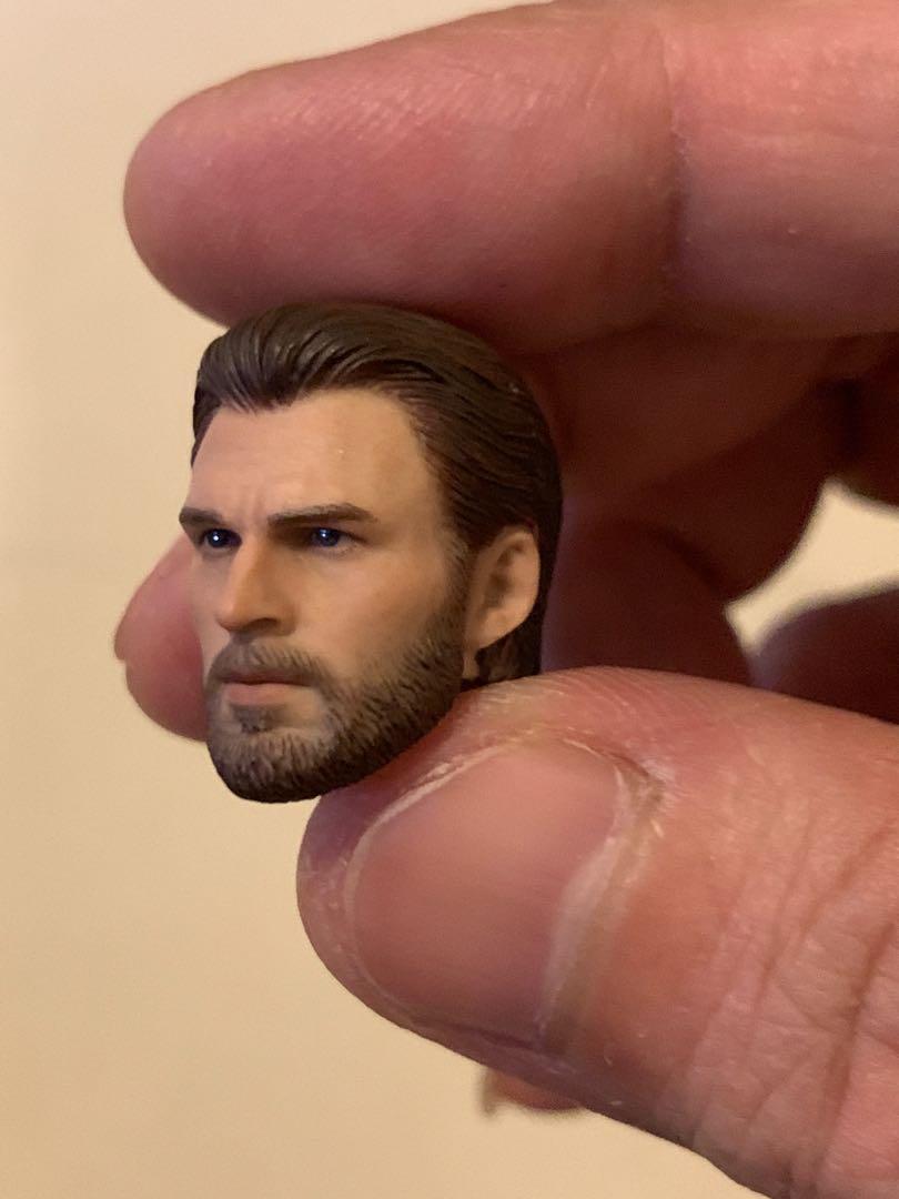 (全新) DLC 閃回 Manipple Studio Infinity war Captain America 無限之戰 美國隊長頭雕 1:12 SHF專用佩件套裝