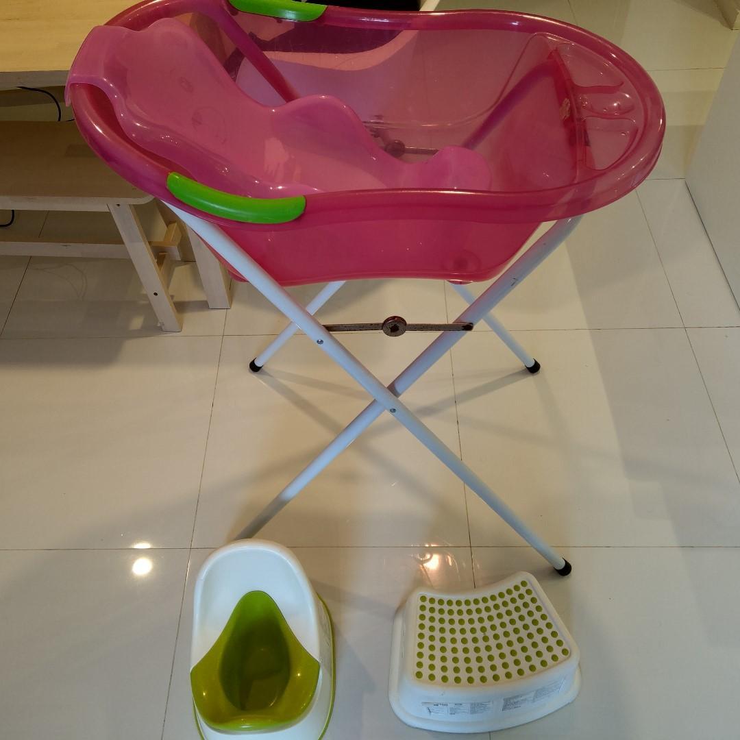 Baby Bathtub With Stand Ikea Potty Ikea Kids Stool Bundle Babies Kids Cots Cribs On Carousell