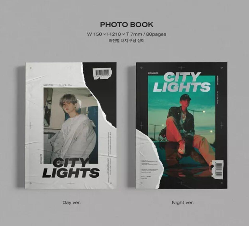 BAEKHYUN 백현 (EXO) - CITY LIGHTS (1st Mini Album) - Select version unsealed album