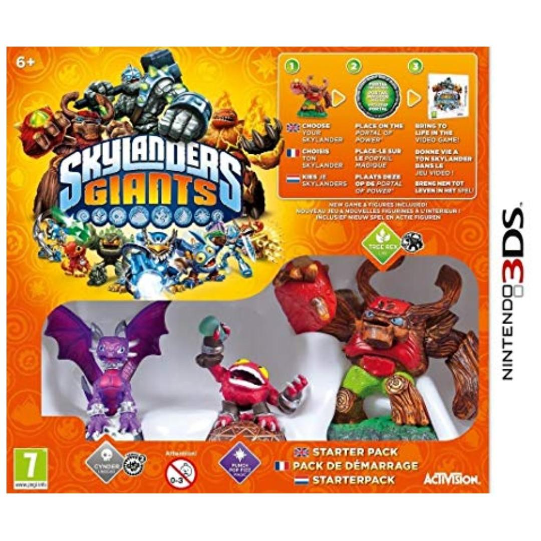 BRAND NEW Nintendo 3DS Starter Game Pack Skylanders Giants With Video Game CD Gaming Console