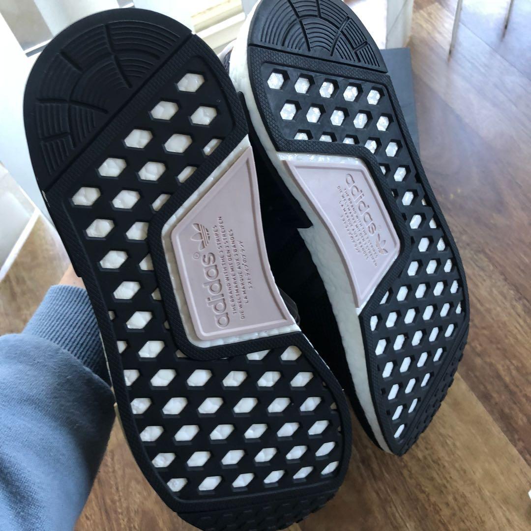 Brand new Women's Adidas NMDs sneakers in white black beige UK 7/ US8.5