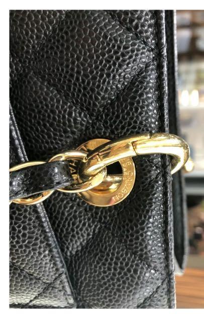 CHANEL Grand SHOPPER Tote Bag GST Black Caviar Leather