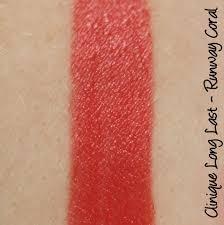 Clinique Long Last Lipstick 'Runway Coral' 0.13oz/3.8g. New