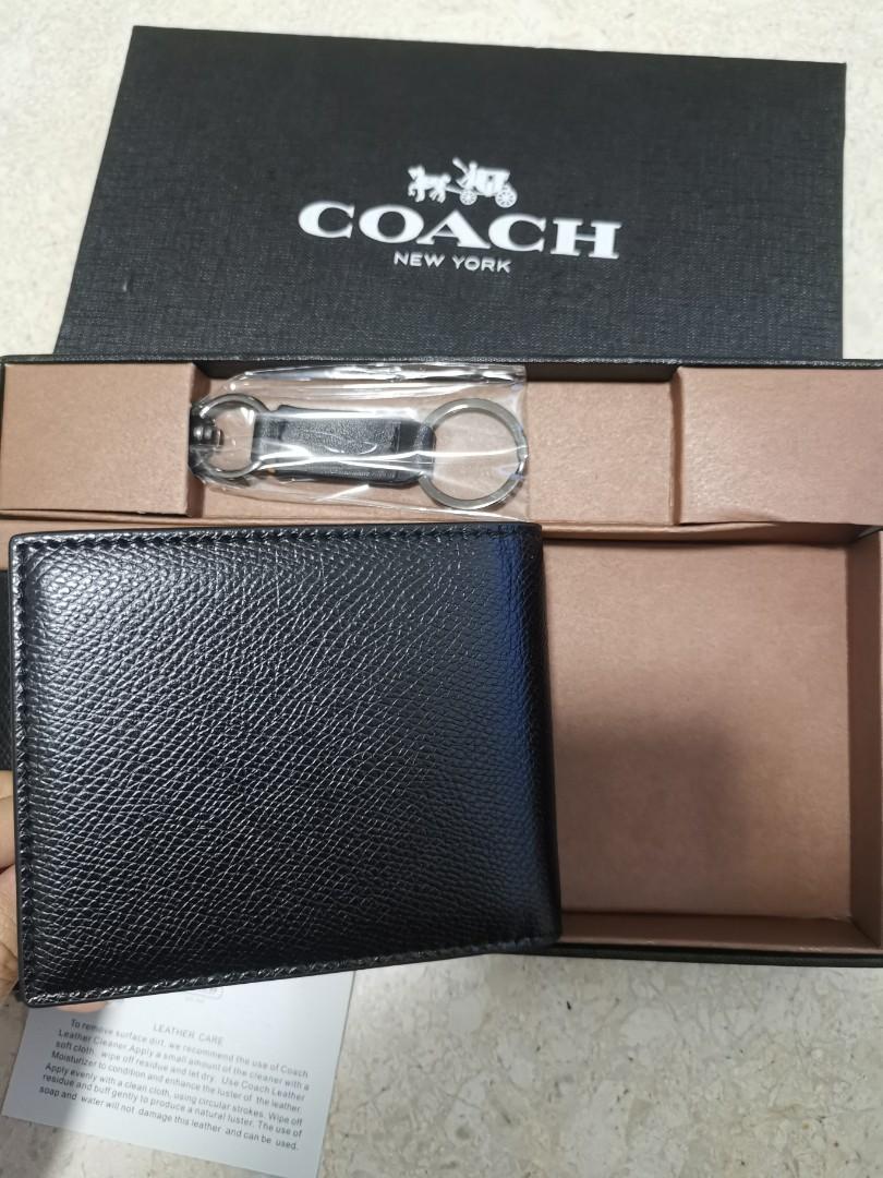 Coach Black Short Wallet
