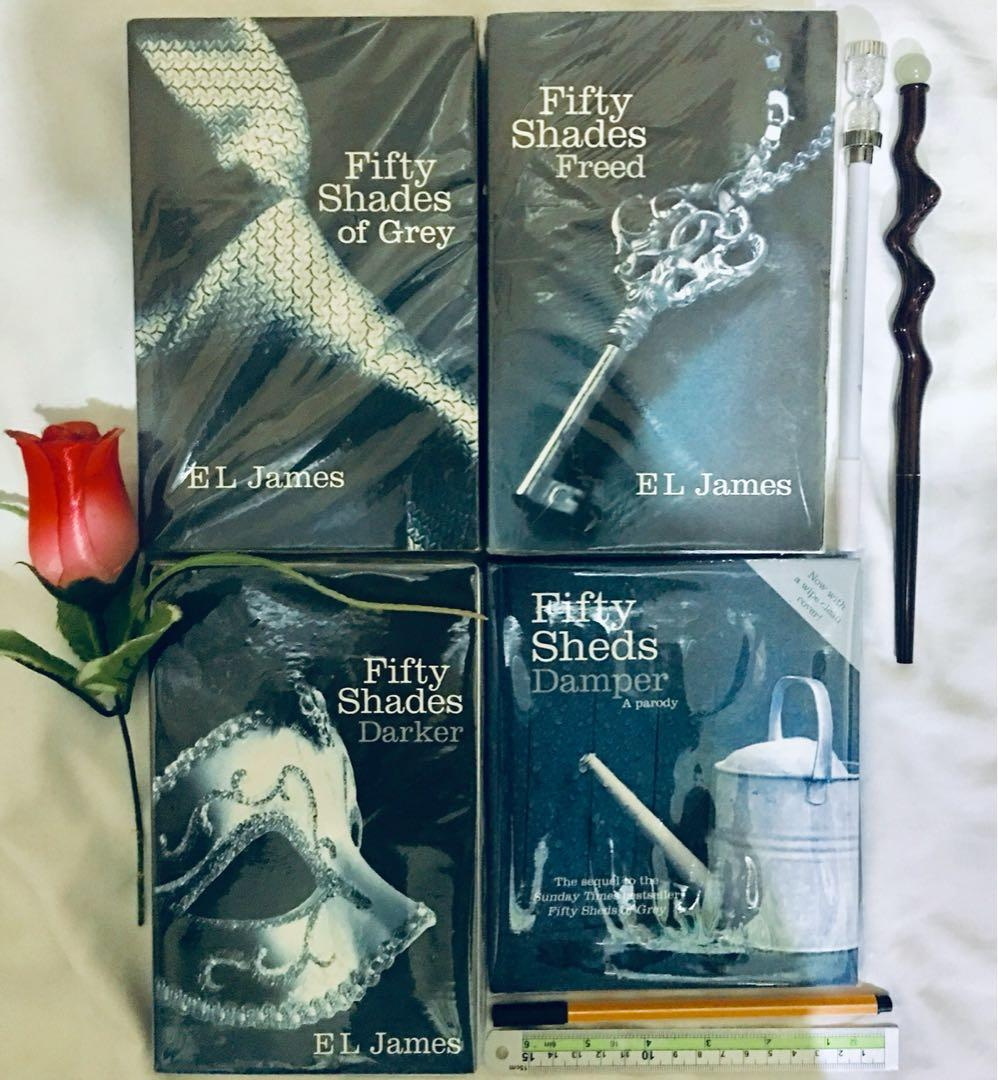 EL James' Fifty Shades Trilogy (BrandNew, Sealed) with FREE Fifty Sheds Damper: Parody of Fifty Shades Darker #MrSpeedyCarousell