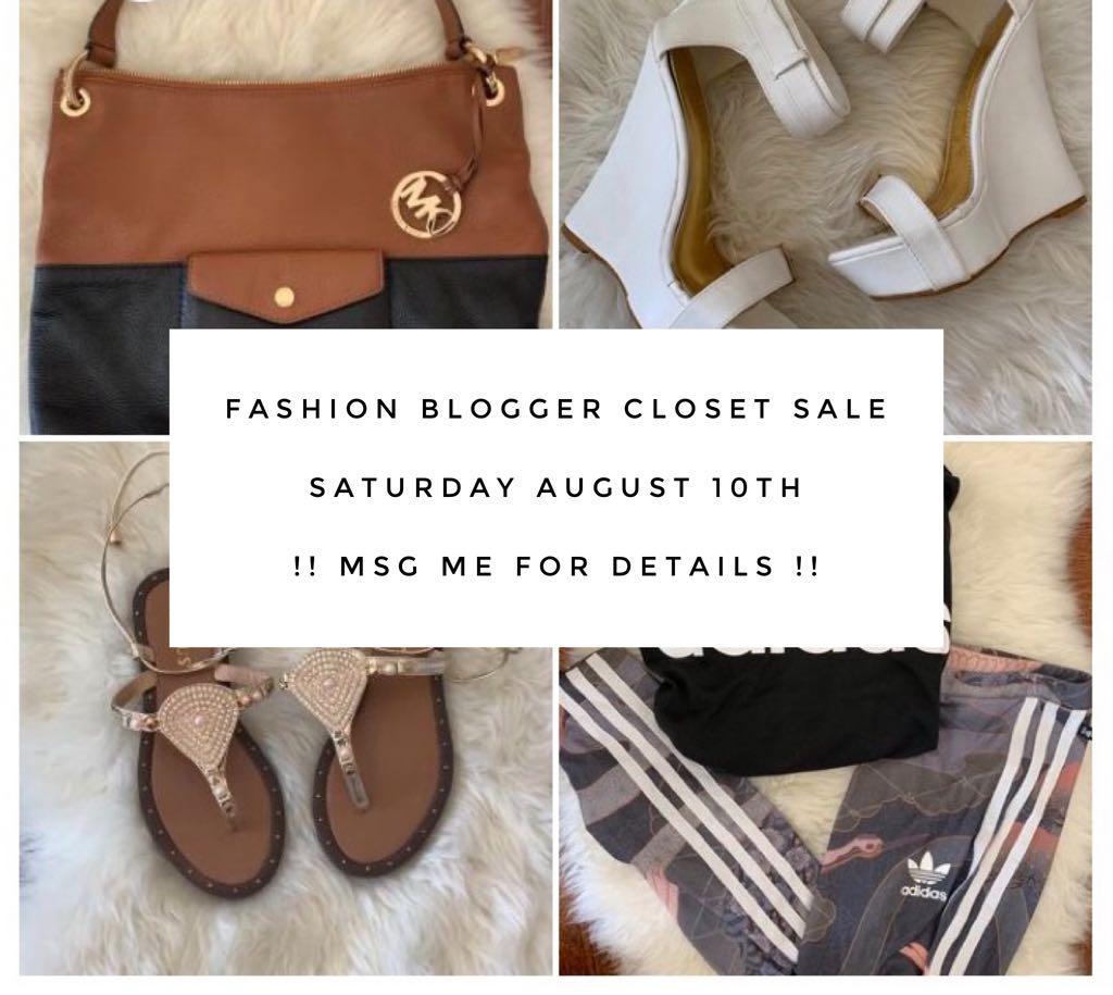 Fashion blogger closet sale Sat. August 10th @ 71 Golden Gate Circle