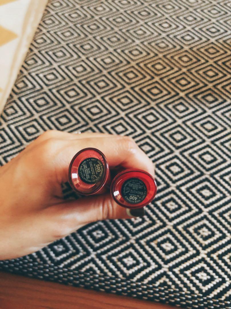 二手 Giorgio Armani #500 淡粉襯裙 啞光唇釉口紅 紅管