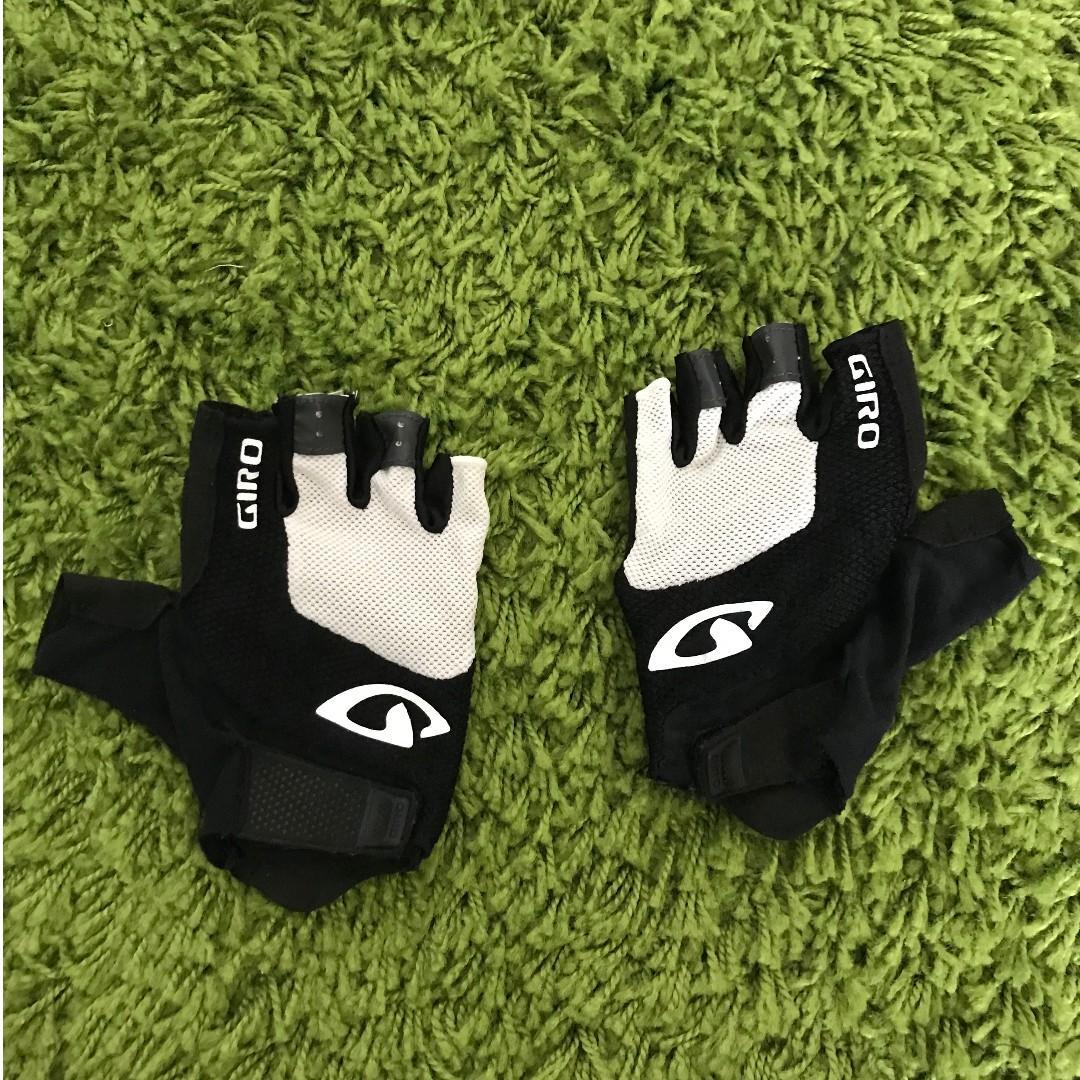 New Giro Bravo Gel RED//BLACK Half Fingers Cycling Gloves Size L