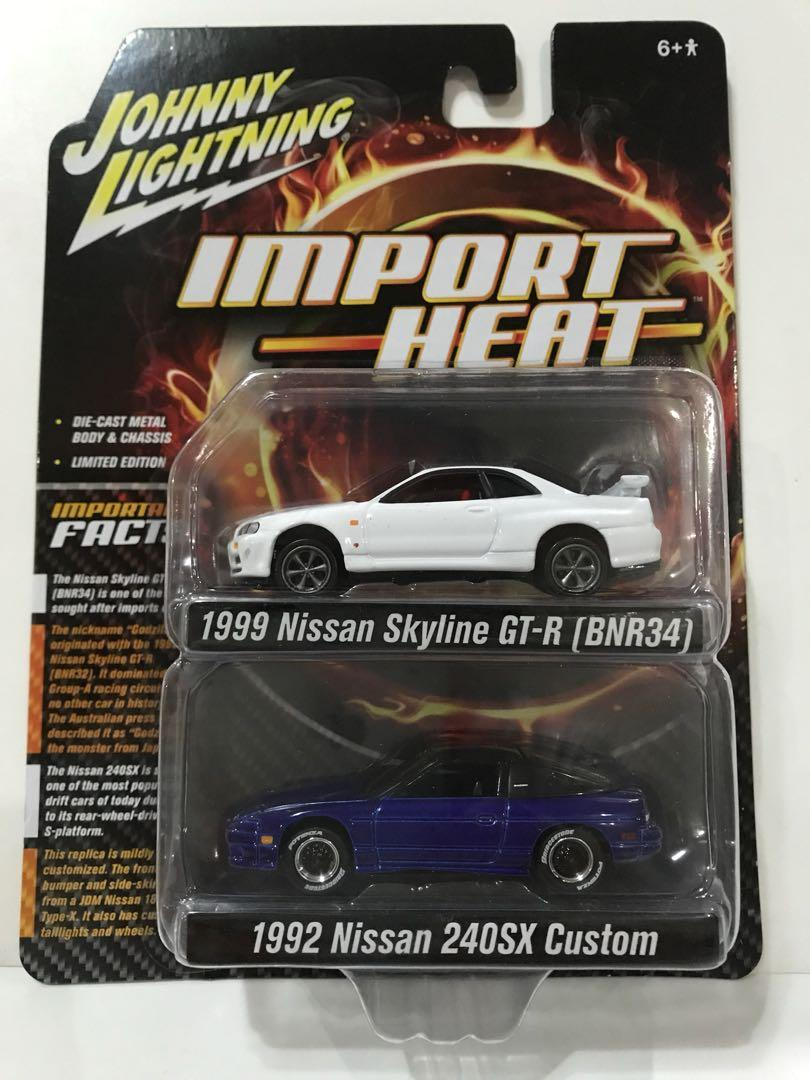 Johnny Lightning 1 64 1999 Nissan Skyline Gt R R34 1992 Nissan 240sx Custom Contemporary Manufacture Toys Hobbies