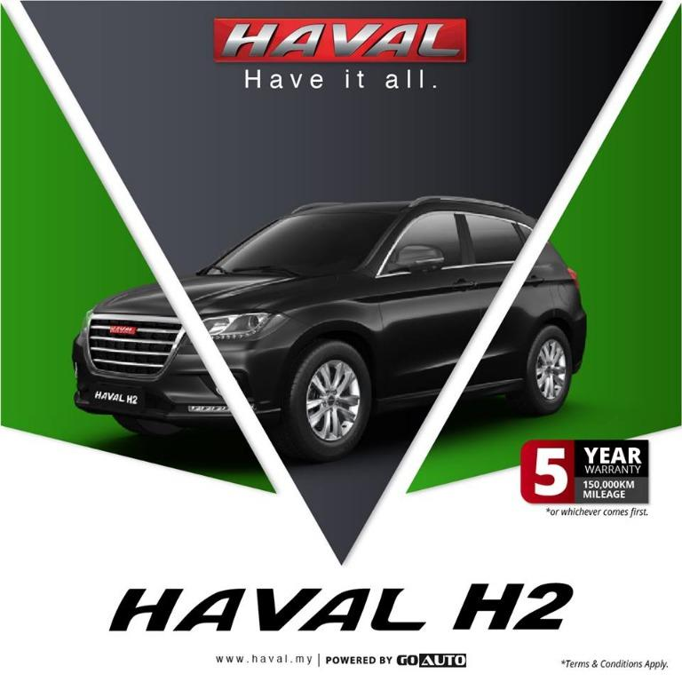 HAVAL H2 1.5VVTI TURBO SUV (2019 THE MOST POWERFUL SUV BRAND) GRAND PROMOTION/HIGH CASH REBATE/EAZY LOAN/READY STOCK