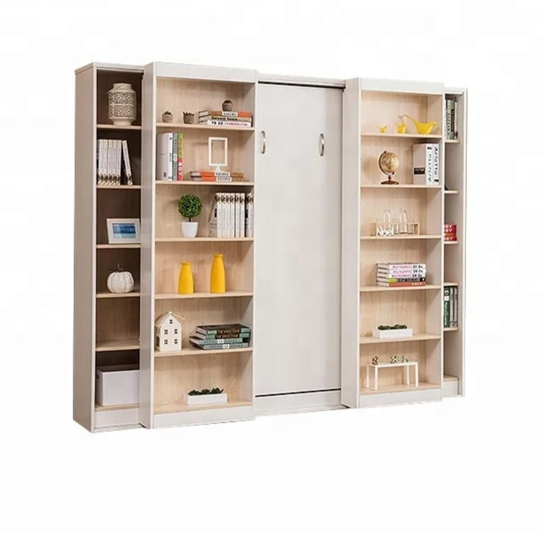 Hidden Murphy Wall Bed With Bookcase Furniture Beds
