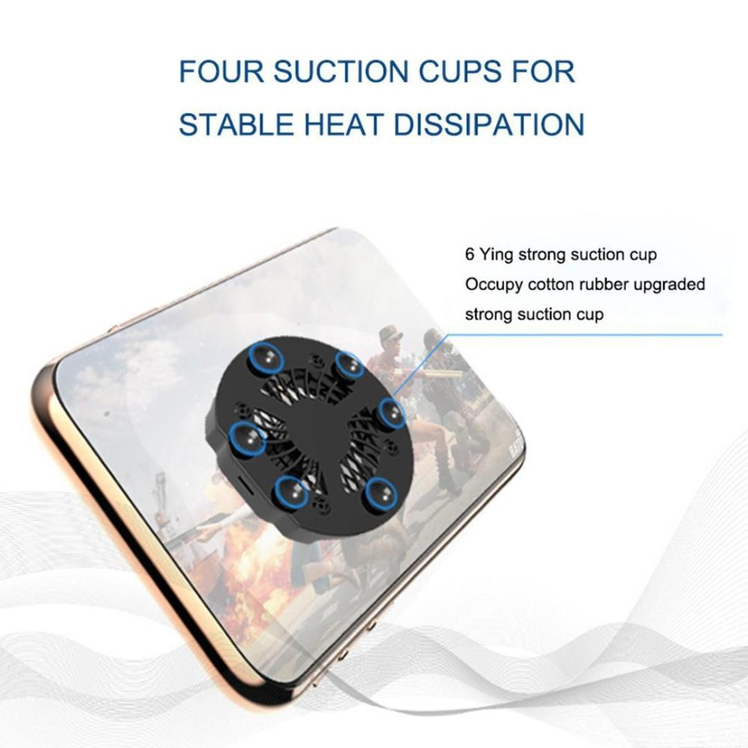 [IN-STOCK] ⭐️Free Delivery⭐️Z10 PUBG Foldable Mobile Phone Cooler Cooling Support Holder Bracket with Fan Radiator