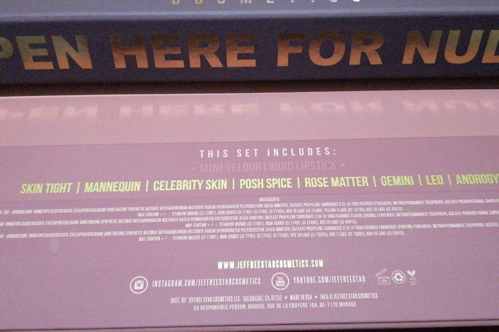 JEFFREE STAR COSMETICS MINI NUDES BUNDLE VOLUME 1 & VOLUME 2 BNIB & AUTH [FINAL PRICE]