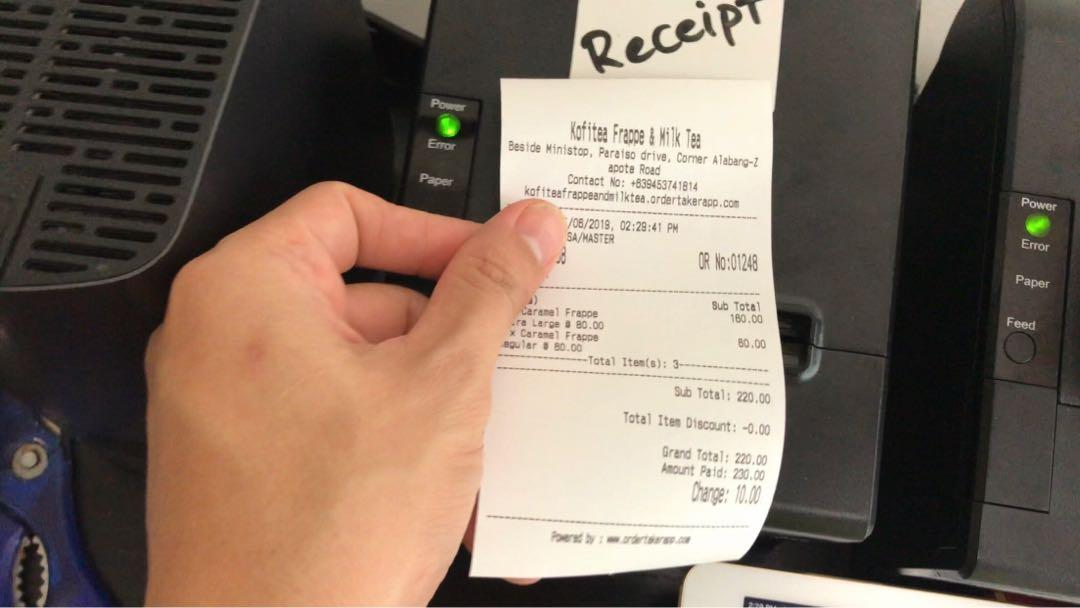 Kitchen and/or receipt printer with free POS software