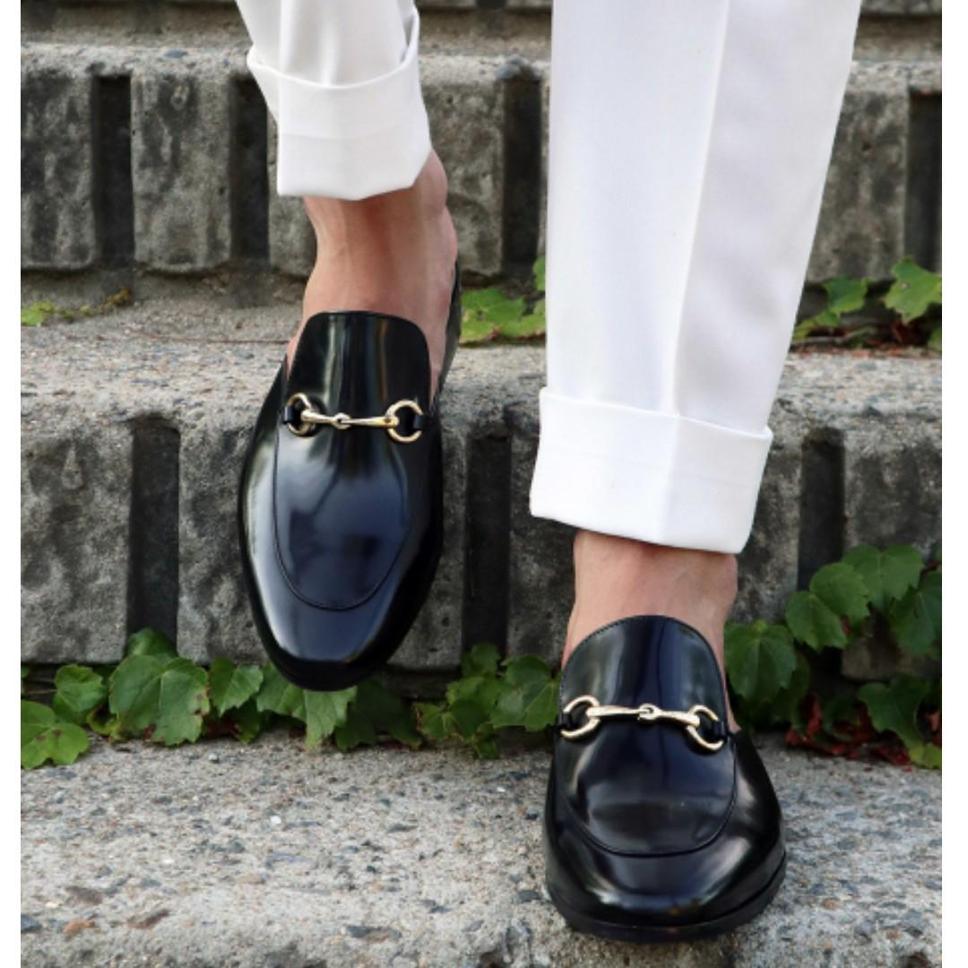 Korean Style Cow Leather Men's Mules Dress Shoes Bloafer Loafer, Men's  Fashion, Footwear, Formal Shoes on Carousell