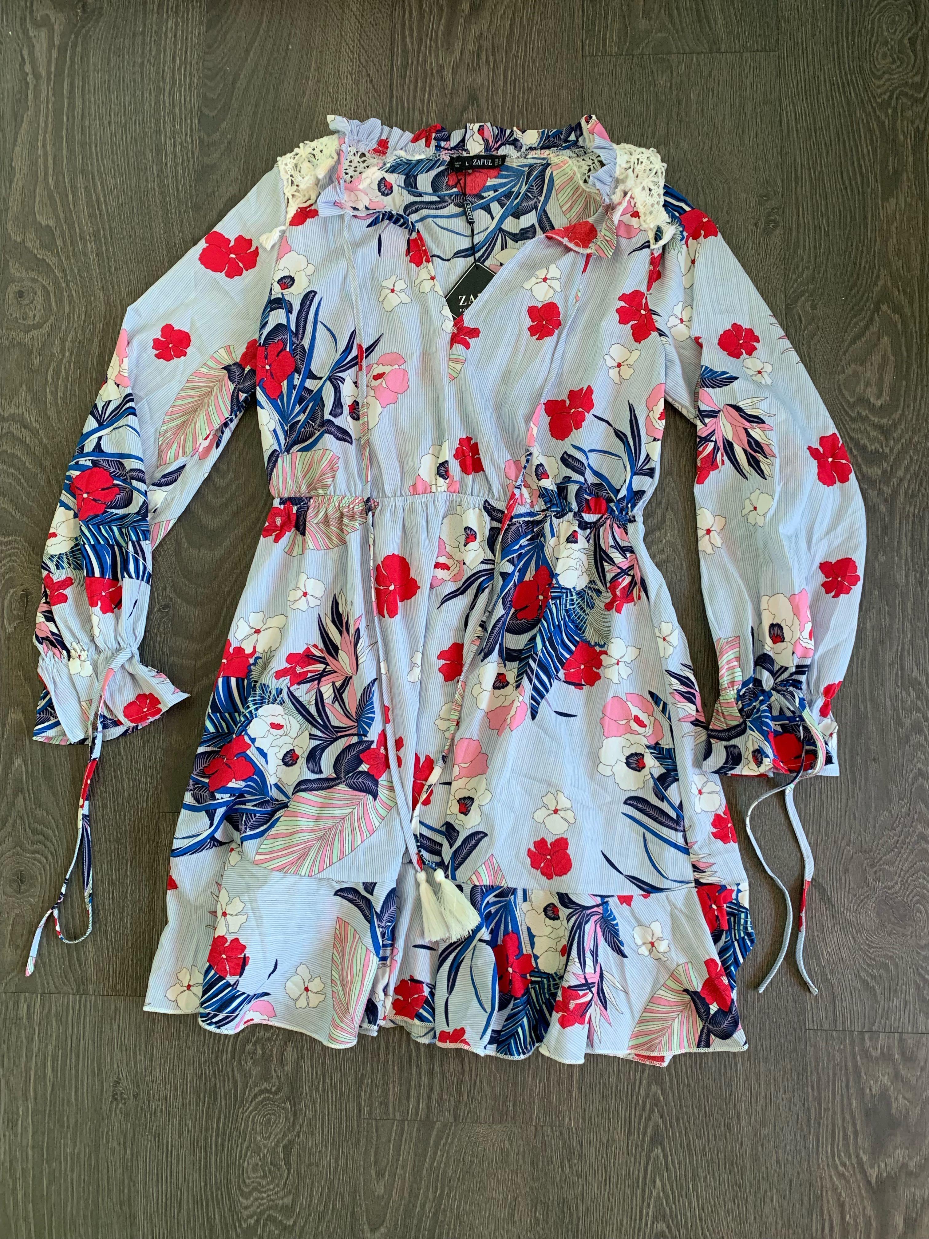 NEW ZAFUL Dress Size Medium Summer Dress Beach Vacation  Wear