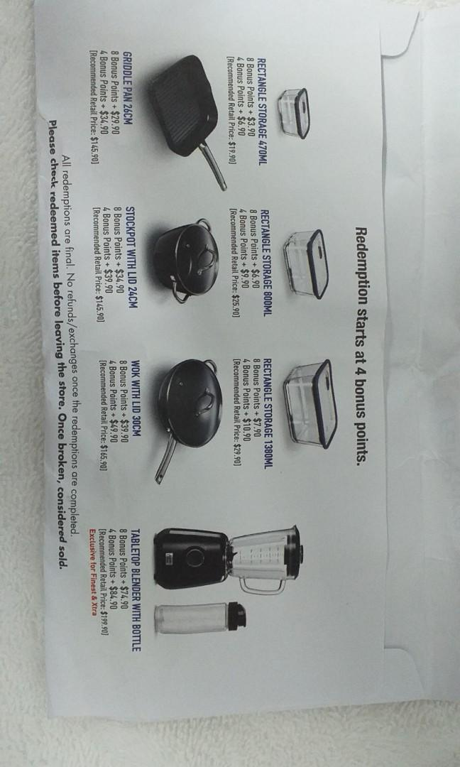 NTUC Fairprice Bonus Points-jamie oliver kitchenware collection