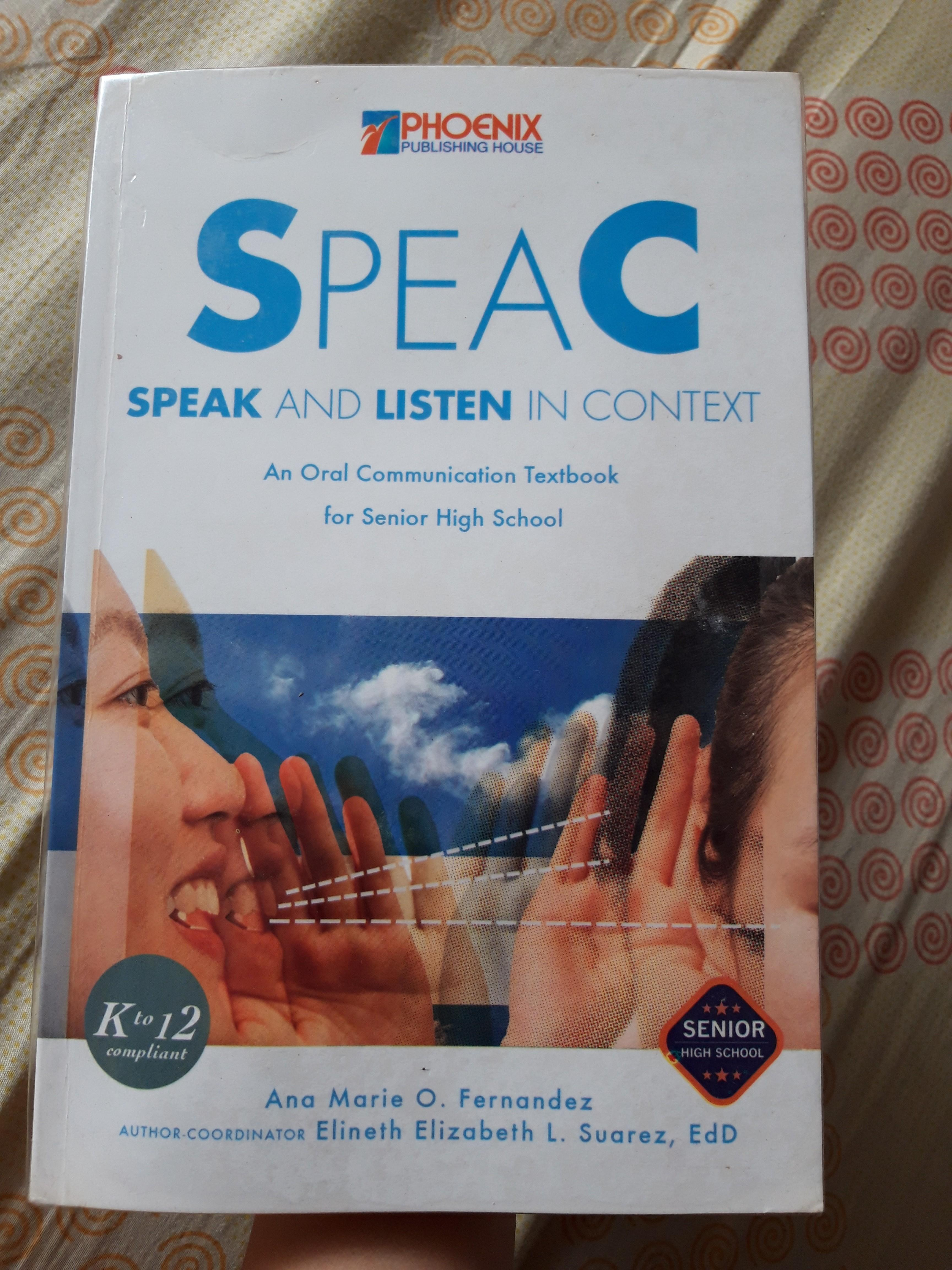 PHOENIX PUBLISHING HOUSE: SPEAC: Speak and Listen in Context (Oral Communication Book)