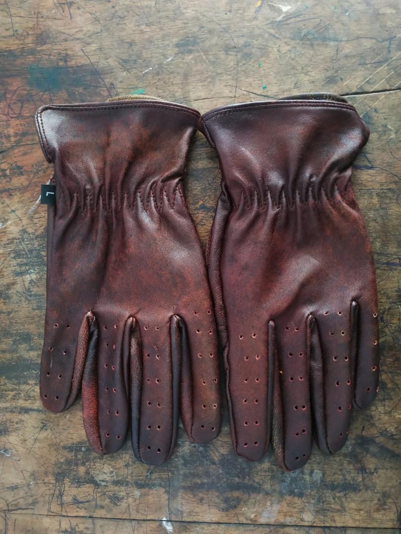 Sarung Tangan Full Kulit Wash Vintage