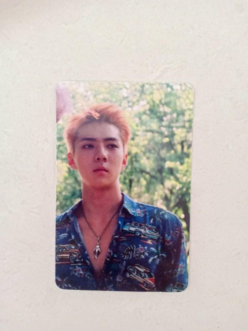 Sehun Photocard from The War Album Private Version
