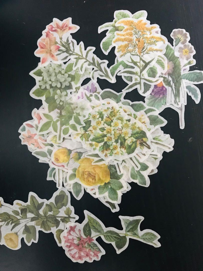 Set of Floral Stickers