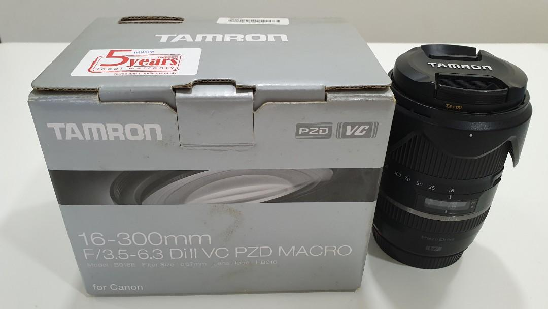 Tamron 16-300mm F/3.5-6.3 DiII VC PZD Macro for Canon