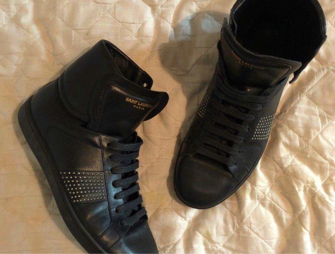 Ysl leather black high tops rrp $900 worn twice selling for $200