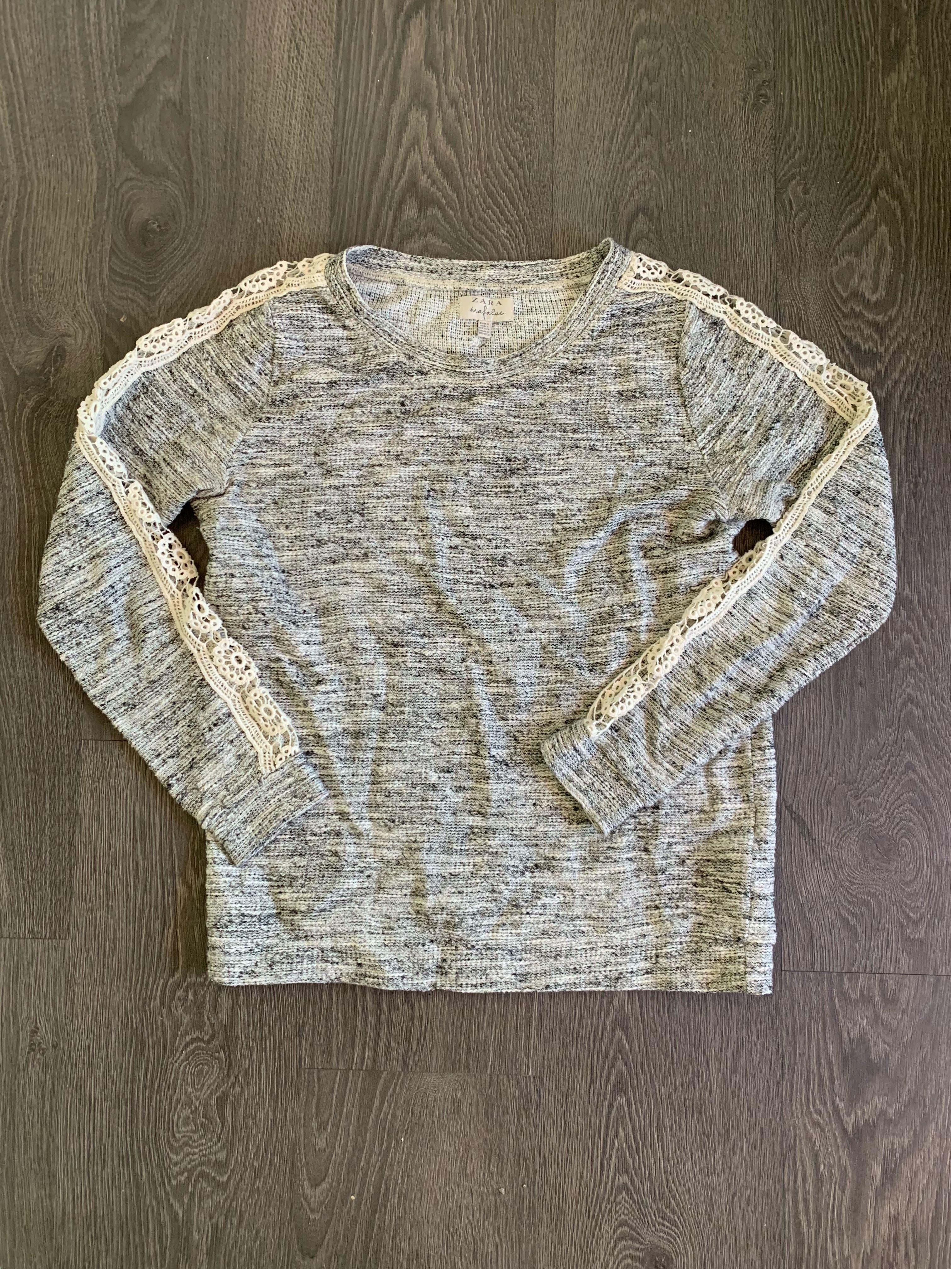 Zara Trafaluc Sweater with cut out detail down the arm