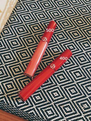 二手|Giorgio Armani #500 淡粉襯裙 啞光唇釉口紅 紅管