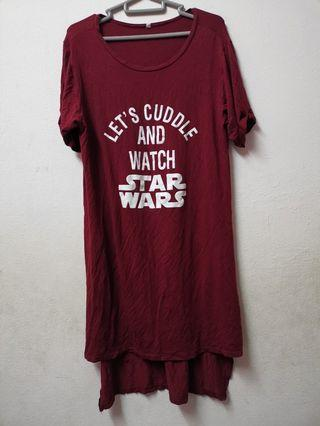 Let's Cuddle and Watch Star Wars Shirt Dress